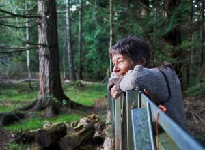 Margaret Thomson watches her flock
