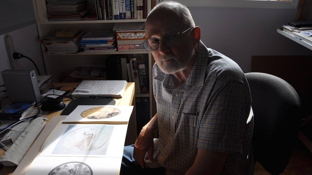 Robert-Ralph Carmchiael, designer of the loonie, at his home near Echo Bay, Ontario